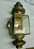 Antique Vintage Stevens Sackett carriage lamp electrified  (LS)