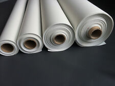 Bright White Marine Vinyl Fabric - Fake Leather Upholstery 1,5,10,20 & 30 Yards