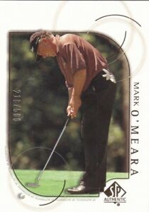 2001 SP Authentic Gold Golf Pick Your Cards!  Complete Your Set!