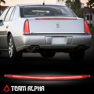 Fits 2006-2011 Cadillac DTS [Chrome/Red] LED Third 3rd Brake Light Tail Lamp