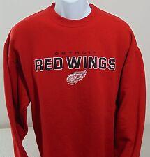 NHL Detroit Red Wings Red Long Sleeve Lightweight Sweatshirt Mens Large