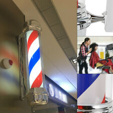 "28"" Barber Pole Led Light Red White Blue Lamp Salon Light Symbol Sign of Lamp Us"