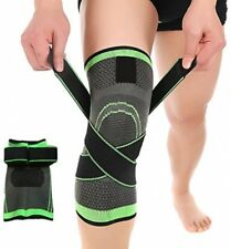 HipStone Knee Sleeve Green XL 3D Weaving Knee Brace Breathable Support for Pain