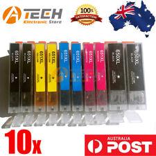10x Ink for PGI 650 CLI 651 XL Canon Pixma Mg5560/6360/6460/7160 Ip7260 Printer