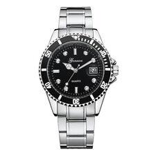 Moda Men Fashion Military Stainless Steel Date Sport Quartz Analog Wrist Watch