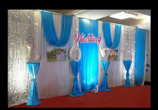 20x10FT Pleated Wedding Backdrop Curtain Background Decor Sparkly Sequin Swag 10
