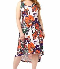 Jete By Gwynnie Women's Plus Size 3X Hi Lo Floral Tank Dress Sleeveless NWOT