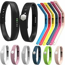 Silicone Wrist Band Strap Bracelet With Clasp For Fitbit Flex 2 Activity Tracker