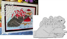 Christmas CANDY CLAUS Cling Stamp HMCR09 Stampendous Stamps House Mouse Holidays