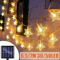Solar Powered Star String Lights LED Outdoor Garden Yard Party Decor Lights