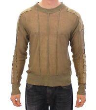 NEW $540 DOLCE & GABBANA D&G Beige Linen Flax Crewneck Sweater Pullover 50 / L