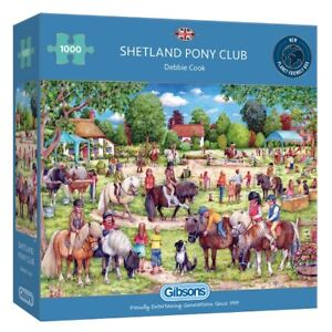 Gibsons 1000 Piece Jigsaw Puzzle - Shetland Pony Club