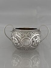 More details for antique silver sugar bowl indian style 1994 chester william aitken sterling