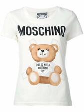 SS17 Moschino Couture Jeremy Scott Teddy Bear Paper Doll T-shirt In White/White