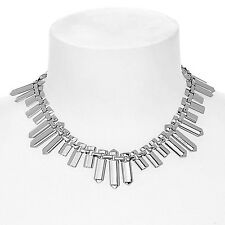 MARC BY MARC JACOBS 'Standard Supply' ID Plaque Collar Necklace Silver tone NWT