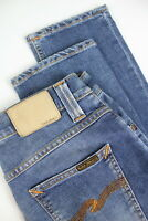 RRP £120 NUDIE JEANS GRIM TIM RAINY COMPACT Men's W30/L32 Blue Jeans 2290*mm