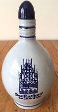 """Vtg WTK East German Pottery Wine Jug Bottle """"Das Rathaus Zu Munster"""" Mid Century"""