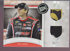 2012 PRESS PASS JOEY COULTER MAGNIFICENT MATERIALS RACE USED GLOVE & TIRE #01/10