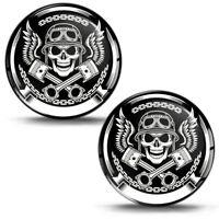 3D Silicone Stickers Decals Skull Rider Helmet Emblem Logo Auto Moto Tuning KS 4