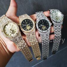 Luxury Men's Iced Rapper's Lab Diamond Metal Band Dress Clubbing wrist Watch