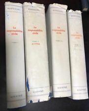 E. BONVICINI LA RESPONSABILITA' CIVILE in 4 VOLUMI  a partire dal 1971 CVMS1/19