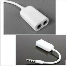 3.5mm TRRS 4-Pole Plug To Earphone Headset + Mic Audio Adapter For PC or iphone
