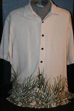 Caribbean Joe Men's (L) 100% Rayon S/S Casual Island Shirt