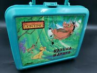 Vtg The Lion King Disney Plastic Lunch Box Hakuna Matata Teal 90's Timon Pumbaa