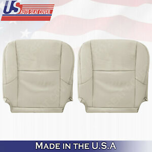 DRIVER PASSENGER Bottom Tan Perforated Leather  Cover For 2010- 2017 Lexus GX460