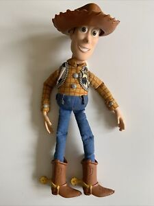 """Toy Story Disney  Thinkway  Pull String Talking Woody With Hat 14"""""""
