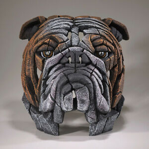 Bulldog Bust Edge Sculpture Figure Evocative - Marble Castings Blend