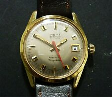 ZITURA COMPRESSOR AUTOMATIC WATCH VINTAGE SWISS BREVET 31383 WORKS TO REFURBISH