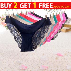 Womens Ladies Sexy Lace Knickers Thongs Panties Floral Underwear Lingerie Briefs