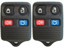 PAIR FORD VEHICLES NEW 4-BUTTON KEYLESS ENTRY REMOTE FOB      (2-r12fx-dkr-redo)