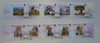 ISLE OF MAN 2004 2 STRIPS OF 5 HERITAGE PM DOUGLAS STAMPS