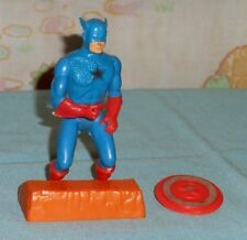 vintage Mego COMIC ACTION HEROES CAPTAIN AMERICA with stand and shield