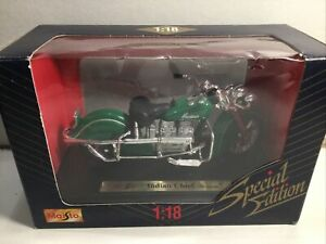 Maisto Motor Cycles Indian Chief Mint In Box 1:18