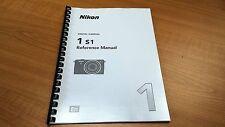 Nikon 1 S1 Fotocamera stampato Manuale di Istruzioni Guida Utente 230 pagine A5