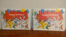 Vintage NEW Suzi Zoo Lot of 2 Birthday Cards with Envelopes Animals Balloons