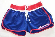 Australia Day Aussie Ladies Blue Red Printed Board Shorts Size 12 New