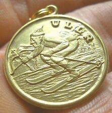 ULLR zipper pull or pendant. Skiing Archery, National Ski Patrol, Asatru