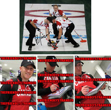 "BRAD JACOBS signed ""2014 SOCHI OLYMPICS"" 8X10 Photo PROOF (H) Gold Medal Curling"
