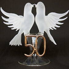 Lovebirds 50th Anniversary Wedding Cake Top Topper