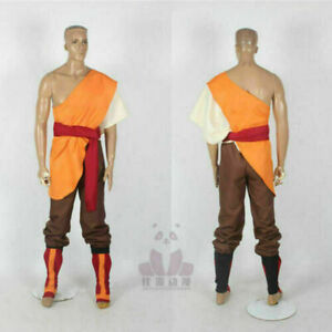 Avatar The last airbender Aang Cosplay Costume{Free shipping}
