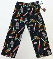 AME Sleepwear LEGO Star Wars Boys Yoda Vader Black Pajama Bottoms Size 4-5