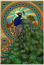 Peacock - Art Nouveau Poster Print, 13x19