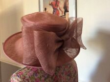 Jacques Vert Coco & Salmon Range Dress/hat Size 14-16 Ic Outfit Post Daily Hol