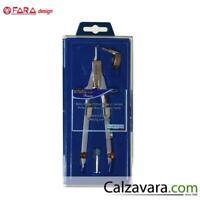 FARA Compasso Balaustrone Premium con Apertura Micrometrica e Frizione