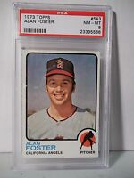 1973 Topps Alan Foster PSA Graded NM-MT 8 Baseball Card #543 MLB Collectible