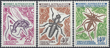 TAAF N°40/42 INSECTES SÉRIE COMPLÈTE NEUF ** LUXE MNH